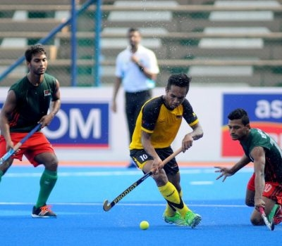 HAZIQ HITS HAT-TRICK AS BANGLADESH FALL